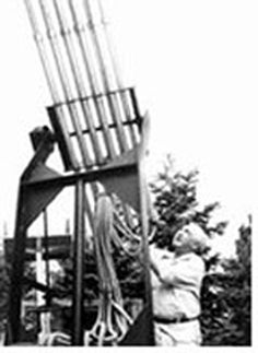 A cloudbuster (or cloud buster) is a device designed by Austrian psychoanalyst Wilhelm Reich that could - according to the pseudoscientific principles of orgone theory - manipulate orgone energy present in the atmosphere in order to produce rain.