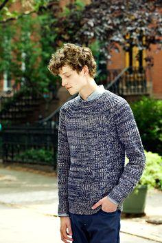Steven Alan Moreno sweater + Single Needle shirt + Slim Chino