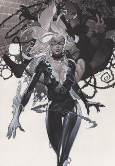 Black Cat and Spidey - Christopher Stevens