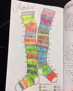 Knee socks mood tracker