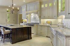 Bianco Romano granite. I like the angle of the  kitchen too.
