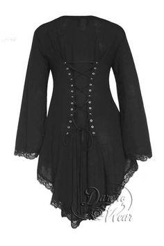 Dare To Wear Victorian Gothic Women's Plus Size Embrace Corset Sweater Black Magic