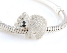 Charm 925 silver with zircons Koala, Bead For European  Bracelet