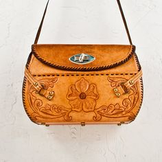 Vintage Purse Bag Tooled Leather Boho Gypsy Chic by goodmerchants, $65.00
