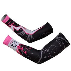 Cycling Queen Black and Pink Arm Warmers