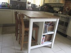 Ikea Kitchen Island and bar stools in Lakenheath College Apartments, Small Apartments, Medan, Apt Ideas, Apartment Ideas, Ikea Kitchen, Kitchen Dining, Kitchen Islands, Kitchen Remodeling