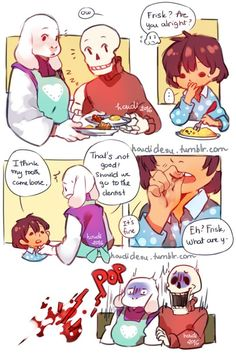 OMYSTARS<<<<< FRISK NO YOU HAVE TERRIFIED POOR PAP HOW COULD YOU