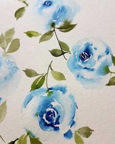 "88 mentions J'aime, 13 commentaires - Nikki (@paintinkco) sur Instagram : ""roses can be blue too~ it has been a while since i painted roses."""
