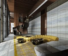 Recognize that sofa?? Here's a great way to use De Sede's DS-600. We're loving the bold use of yellow with this sofa!!