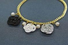Monotone Japanese Paper Charm Bracelet  by wwwmejirojapancom