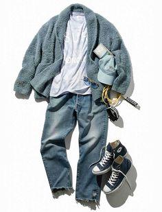 Older Mens Fashion, Korean Fashion Men, Trendy Fashion, Denim Outfit, Fashion Art, Menswear, Style Inspiration, Outfits, Stylish