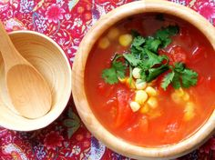 Corn and Tomato soup