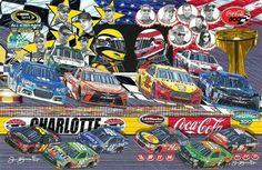 Sam Bass Art Charlotte Motor Speedway Program
