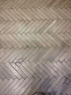Herringbone cast concrete floor