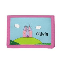 Personalized Castle Wallet - girl gifts special unique diy gift idea