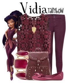 """Vidia"" by tallybow ❤ liked on Polyvore featuring мода, J Brand, Disney, Alberta Ferretti, Melissa и Ana Khouri"