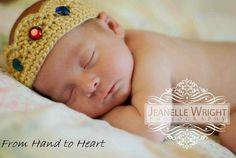 His Majesty crown newborn crochet pattern pdf  on Listia