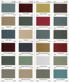 Primitive furniture colors