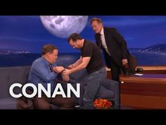"Team Coco: Ricky Gervais Teaches Conan & Andy To Play ""A**hole Or Elbow"""