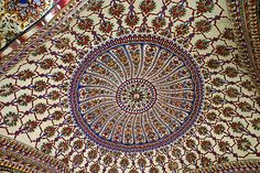 The Inner Dome of Sunheri Masjid (Golden Mosque) | Lahore.
