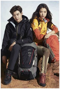 This isn't as good as seeing them together weekly on Pinocchio, but having Park Shin Hye and Lee Jong Seok reunited for MILLET's S& 2015 ad campaign still makes me crazy happy! Park Shin Hye, Korean Actresses, Korean Actors, Korean Dramas, Lee Jong Suk Cute, Hallyu Star, City Hunter, Korean Celebrities, Celebs