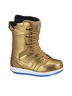 Gold NIKE snowboarding boots