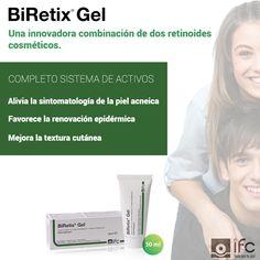 BiRetix®Gel, cuidado de la piel acneica tras la finalización del tratamiento con isotretinoina oral  Conoce BiRetix®Gel visitando nuestra web http://www.ifc-spain.com/biretix/