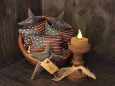 Primitive American Flag Bowl Fillers by Countrybabiesusa on Etsy