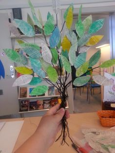 Tree made of old book-leaves