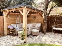 When it has to do with relaxing outside, we like to consider a gazebo as the ideal backyard getaway. For those things you may increase the gazebo afterwards enjoy a hot tub or fire pit is left up to you… Continue Reading → Small Garden Gazebo, Backyard Gazebo, Backyard Patio Designs, Pergola Designs, Backyard Landscaping, Landscaping Ideas, Small Garden Pagoda, Small Garden Corner, Pagoda Patio