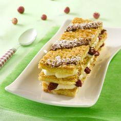 Millefeuille aux cranberries. Plus de recettes sur : www.bridelight.fr/les-recettes #Bridelight