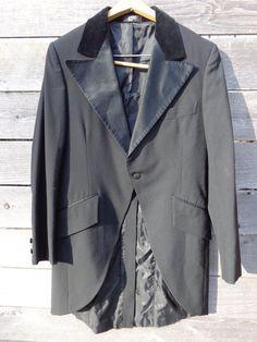 vintage Men's Tuxedo long tails fancy black coat by Simplemiles, $68.00