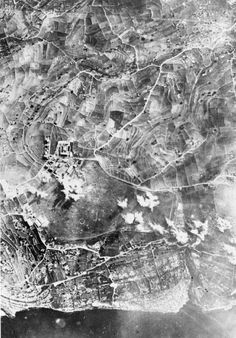 Vintage Aerial view of RAF Hal Far while under Italian attack during in 1941 Malta Malta History, George Cross, Malta Island, The Spitfires, Air Raid, Royal Navy, World War Two, Aerial View, Old Photos