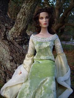 """Arwen Coronation Gown from """"Lord of the Rings: Return of the King"""" Medieval/Renaissance Costume for Tonner 16"""" Dolls - by Morgan May @ Stardust Dolls - http://www.stardustdolls.com"""