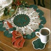 Holly-Day Dining Set Thread Crochet Patterns ePattern