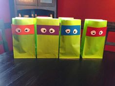 Cheap ideas for a Teenage Mutant Ninja Turtle Party, favors & food, 3 years old