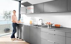 Blum together with Häfele brings to you the AVENTOS HK-XS lift system: a compact fitting for small stay lifts in high and wall cabinets… Free Standing Kitchen Cabinets, Kitchen Wall Cabinets, Kitchen Furniture, Kitchen Hinges, Cabinet Furniture, Buy Kitchen, Kitchen And Bath, Kitchen Dining, Kitchen Tools