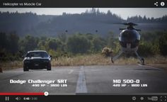 Dodge Challenger SRT8 vs. MD500 helicopter ► http://www.only4realmen.com/?p=27160
