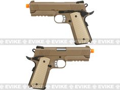 WE-Tech Full Metal 1911 Desert Warrior Socom 4.3 Airsoft Gas Blowback Pistol - Tan (Package: Gun Only), Airsoft Guns, Evike Custom Guns, Other Series Custom Guns, Hand Guns - Evike.com Airsoft Superstore