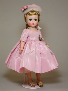 GORGEOUS describes this Lissy in pink taffeta.