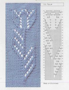 Knitting stitches sweaters beautiful 37 new ideas - Her Crochet Lace Knitting Patterns, Knitting Stiches, Knitting Charts, Lace Patterns, Loom Knitting, Knitting Designs, Knitting Projects, Crochet Stitches, Baby Knitting
