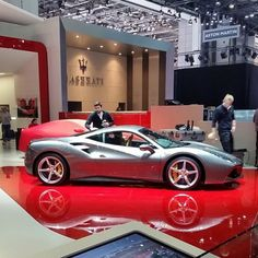 The Ferrari 488 GTB was unveiled at the 2015 Geneva Motor show and is currently in production. The car is an update for the Ferrari 458 with the 488 sharing some of the design an components. Ferrari 2017, Ferrari Racing, New Ferrari, Ferrari 488, Exotic Sports Cars, Exotic Cars, 488 Gtb, Geneva Motor Show, Sweet Cars