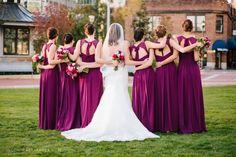 Sangria Bridesmaid Dresses: Bill Levkoff Style 485 Uptown Charlotte Wedding
