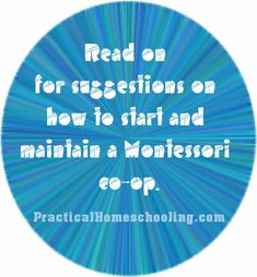 Building a Montessori Homeschooling Co-op - Suggestions for how to start and maintain a Montessori co-op.
