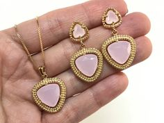 Rose Quartz in 18k Gold Filled Earrings and by EloisaBarreto