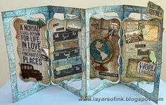 Layers of ink: Darkroom Door Nomad Layout and Accordion Flip Album