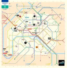 llllitl carte plan paris des agences de publicit plan de metro lignes logos agences france paris french ad agencies parisian road map subway ratp rer