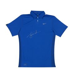 TIGER WOODS Signed Nike Performance Graphic Royal Blue Polo LE of 25 UDA. Tiger  Woods 8e744ec0011a