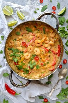 Prawns In Thai Coconut Sauce. Prawns (shrimp) in an easy Thai-style coconut sauce - creamy delicious and low-effort! Peanut Butter Shrimp Recipe, Butter Prawn, Coconut Curry Shrimp, Coconut Sauce, Thai Coconut, Thai Prawn Recipes, Curry Recipes, Seafood Recipes, Vegetarian Recipes