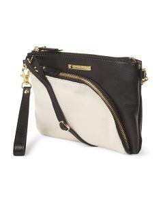 image of Leather Two Tone Crossbody Emma Fox, Tj Maxx, Leather, Bags, Fashion, Handbags, Moda, La Mode, Fasion